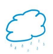 summer graphics rainy cloud