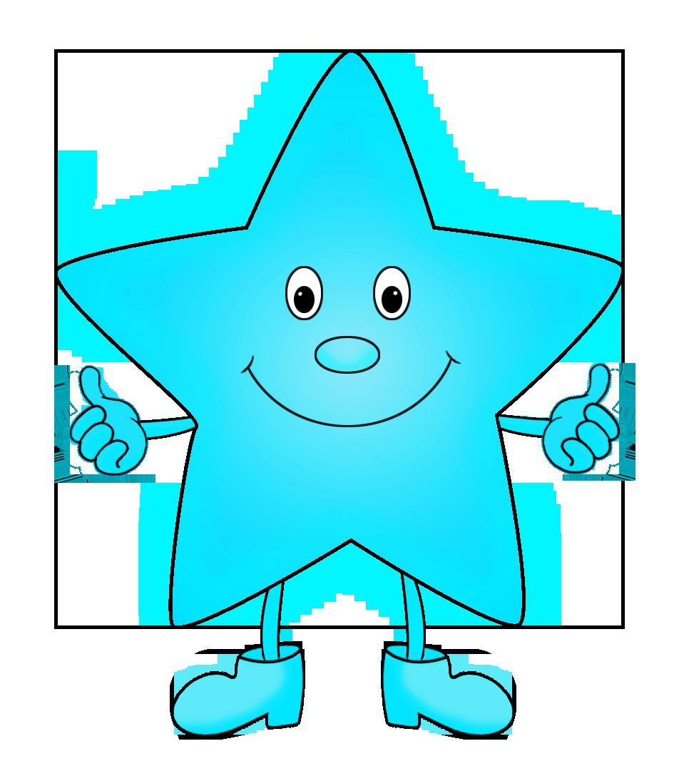 star clip art light blue