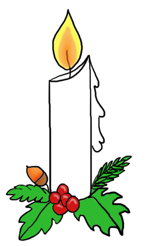 Christmas candle with holy