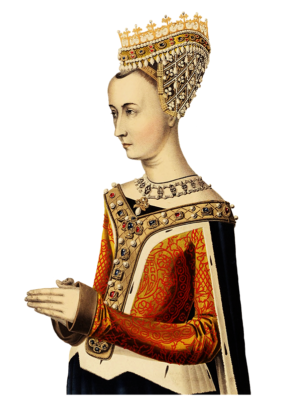 medieval clipart of queen praying