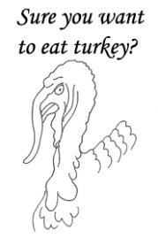 Angry thanksgiving dinner turkey