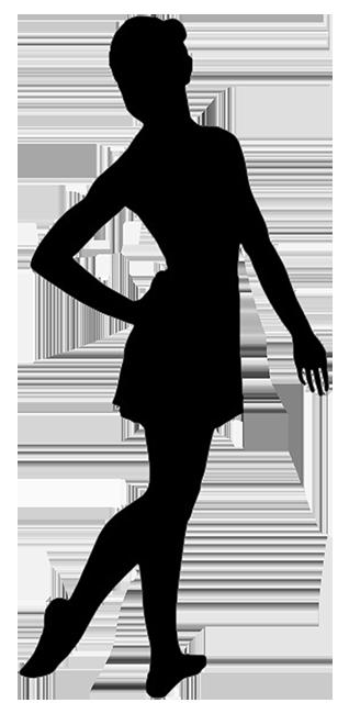 silhouette of ballet girl