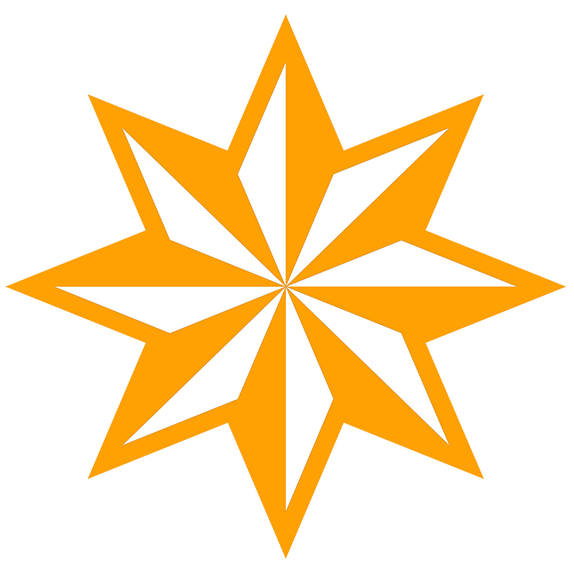 8-pointed star orange