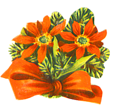 Christmas flower and red bow
