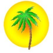 Beach party palm sun clipart