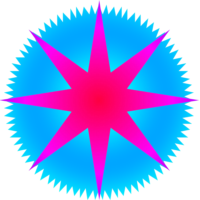 star clipart with rays