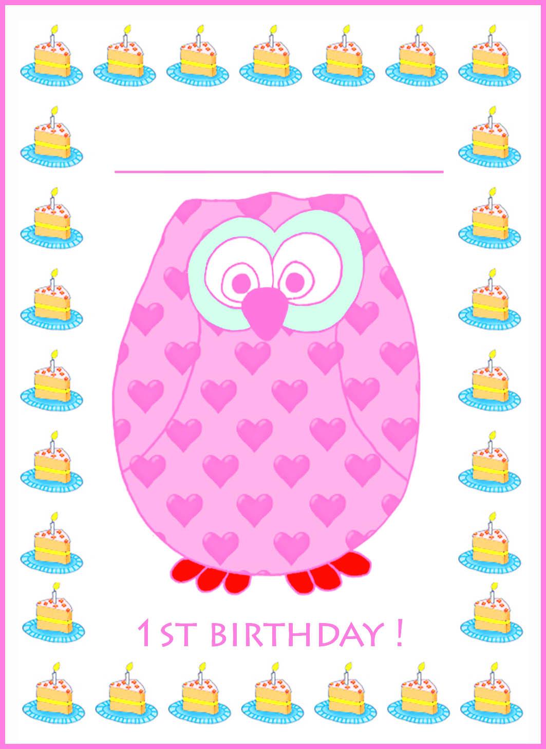 lila 1st birthday invitation