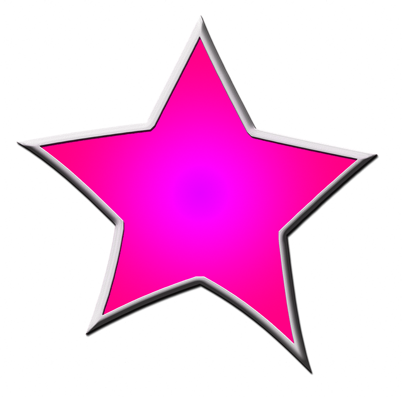 pink framed star drawing