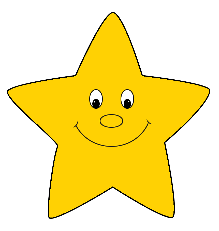 Yellow cartoon star drawing