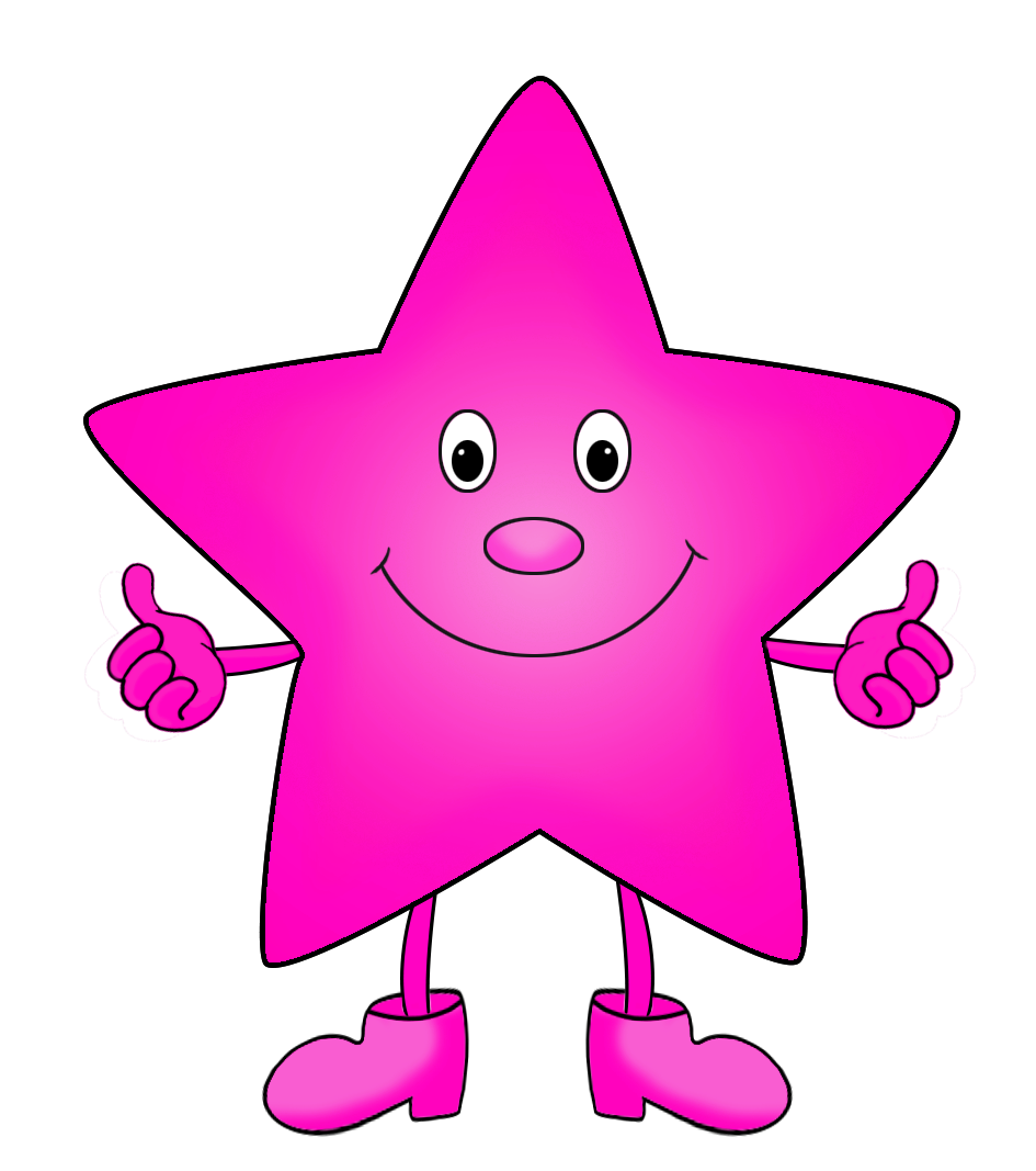 purple star cartoon clip art