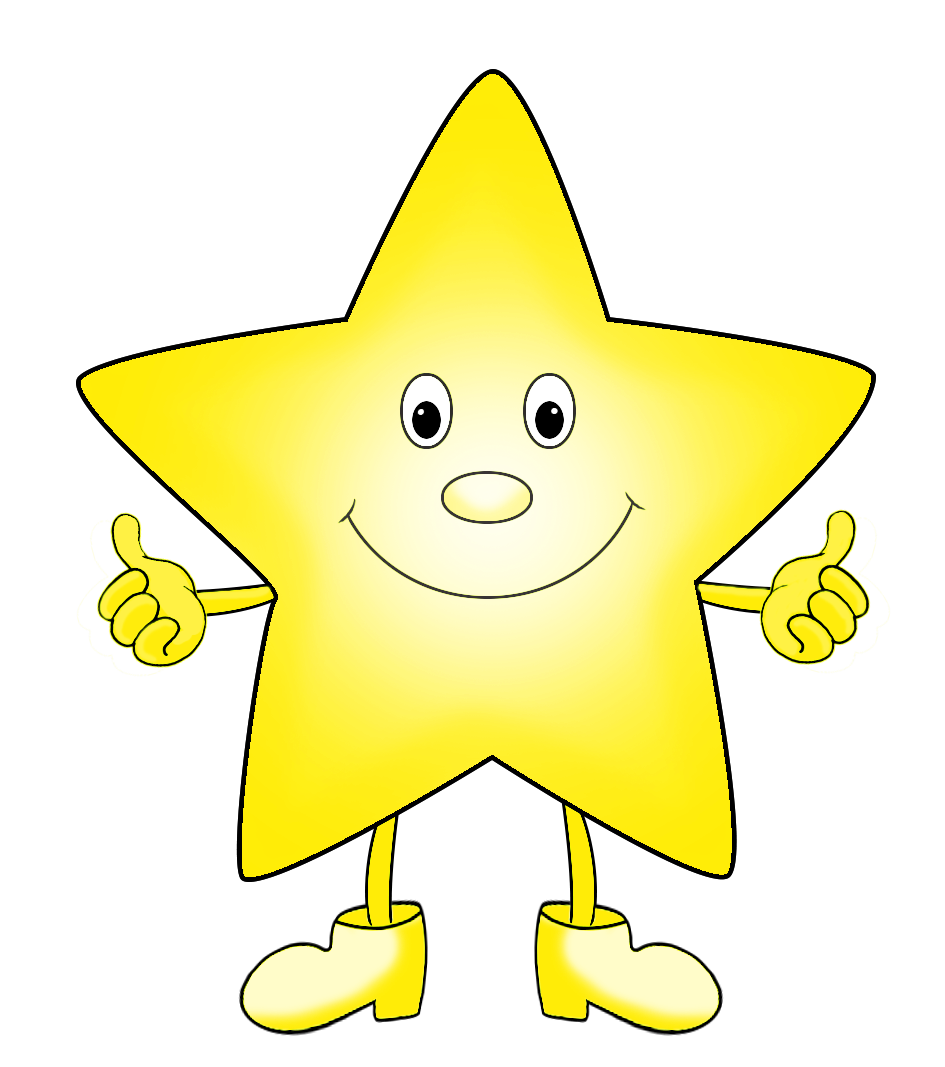 light yellow funny cartoon star clip art
