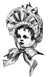 Small Victorian girl's bonnet