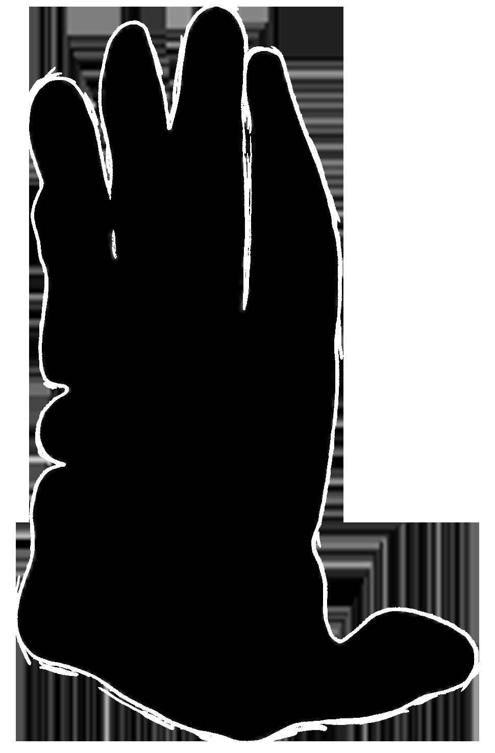 male orangutan paw print