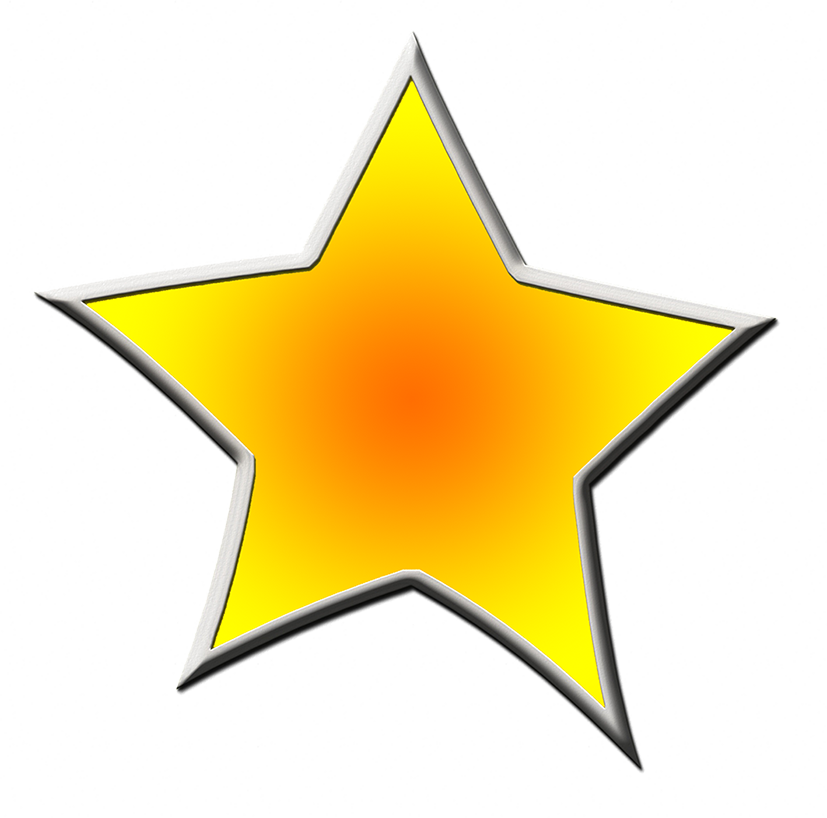yellow framed star drawing