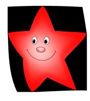 red cute star