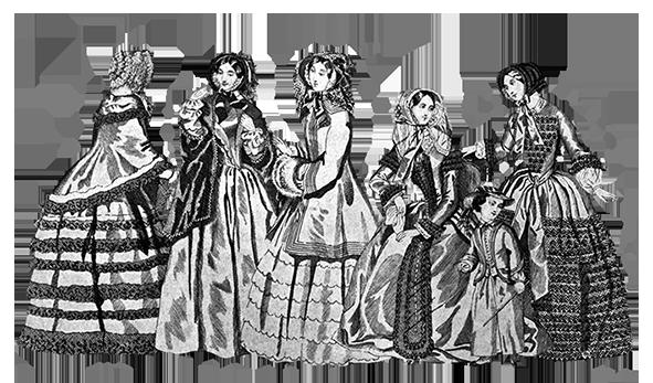 Victorian dresses 1849