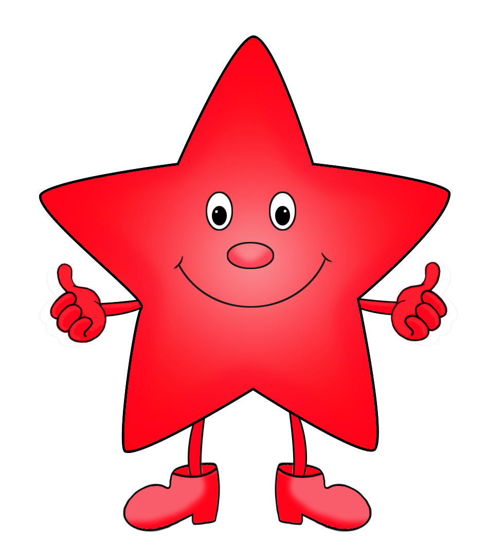 red cartoon star clipart