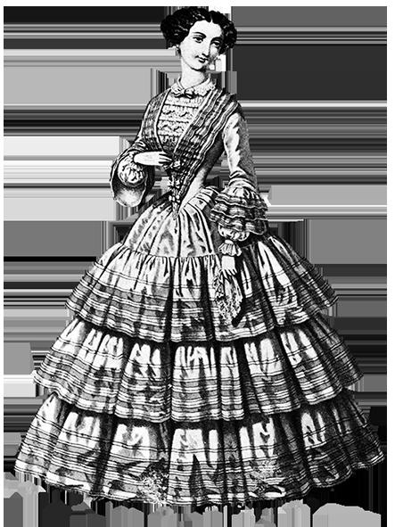 woman's Victorian dress 1858