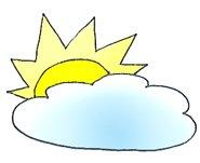 summer clipart sun and cloud