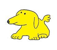 small yellow dog clip art