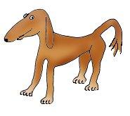 dog cartoon illustrations thin brown dog