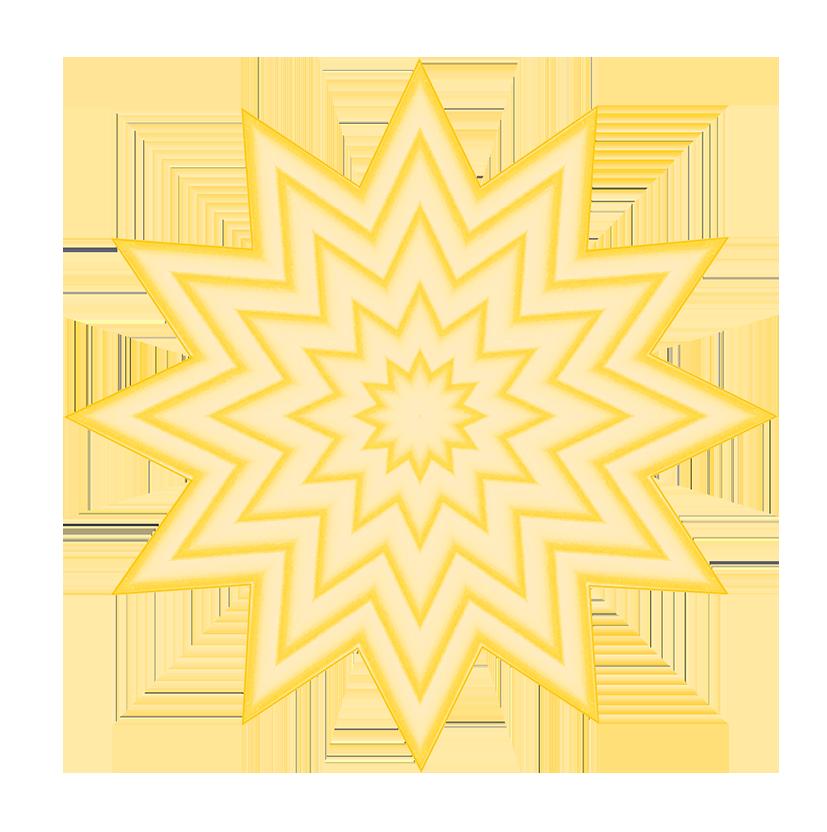 soft yellow pattern of stars