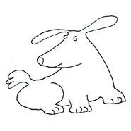 dog clip art sweet dog sketch