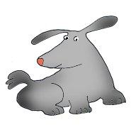 sweet grey dog clip art