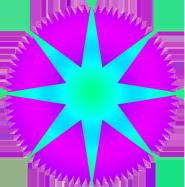 blue purple star image