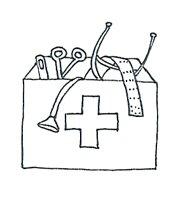 Medical images firt aid kit sketch