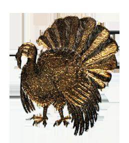 Golden turkey drawing