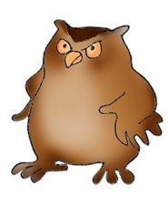 funny owl clip art