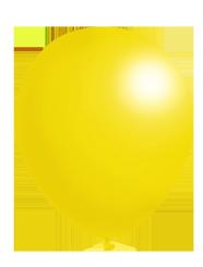 bright yellow balloon