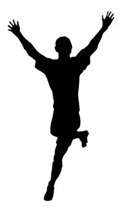 winning soccer player clipart