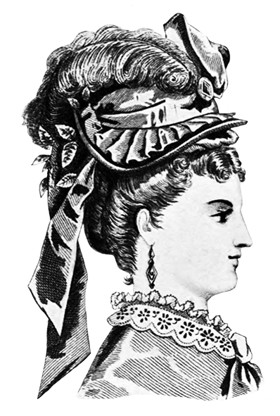 woman hat fashion 1871