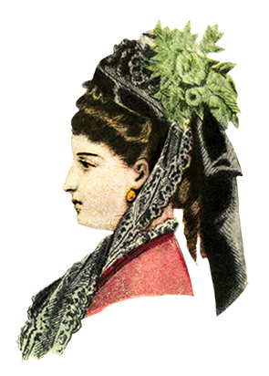 1872 Victorian hat fashion for ladies