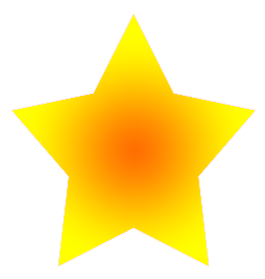 free star clipart yellow orange