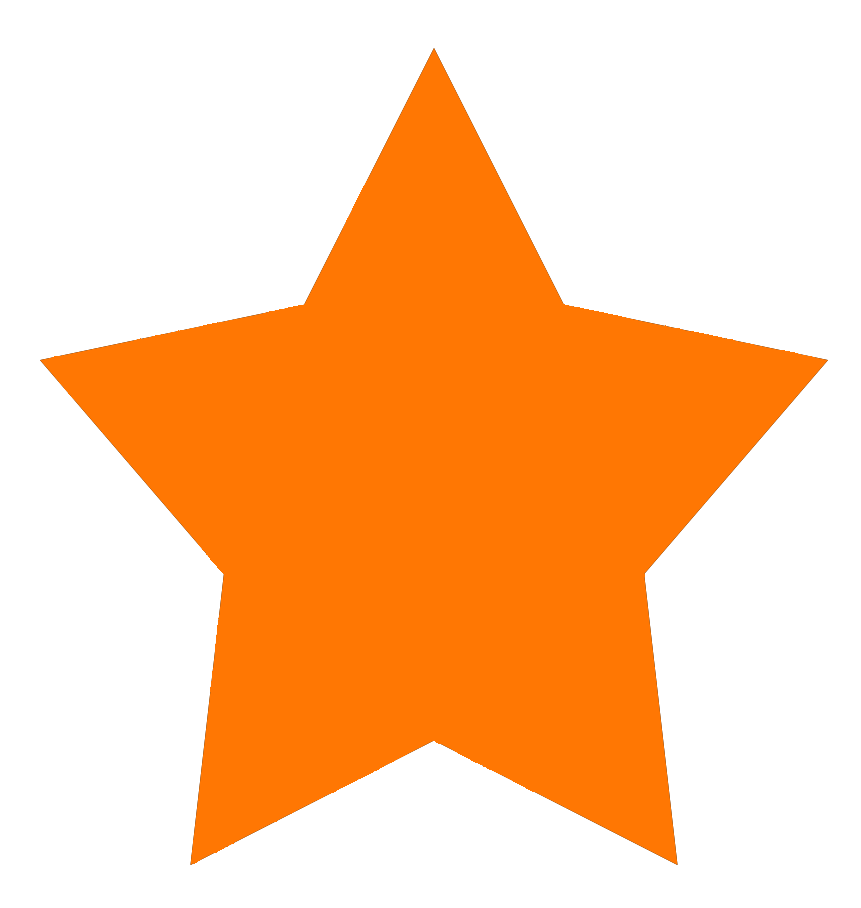 Orange 5-pointed star shape