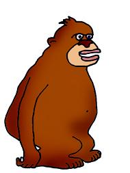 Big funny monkey