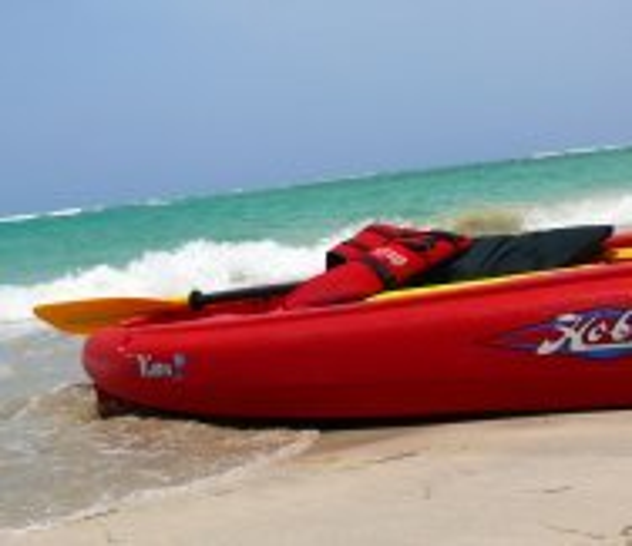 canoe at the beach