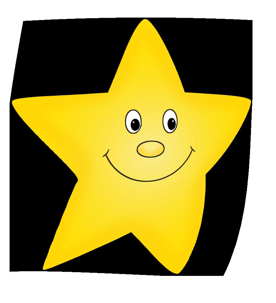 Flying yellow cartoon star drawing