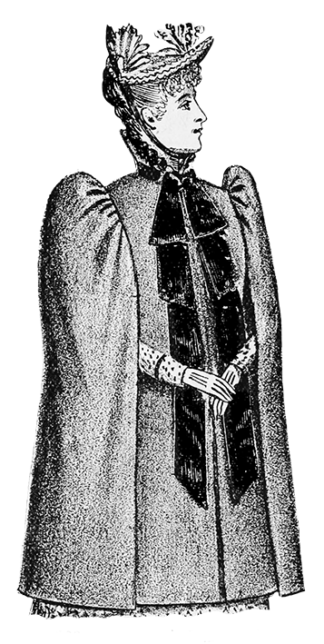 all wool cloth cape Victorian clothing 1894