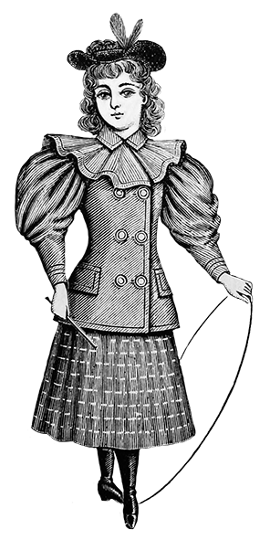 1894 Victorian clothing for children child's blazer