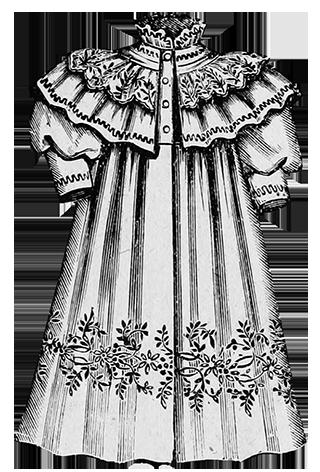 infant's coat Victorian fashion