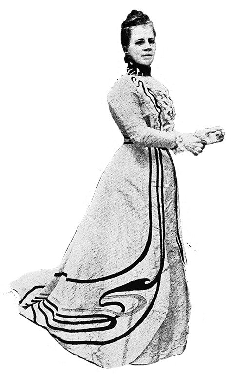 late Victorian evening dress 1900