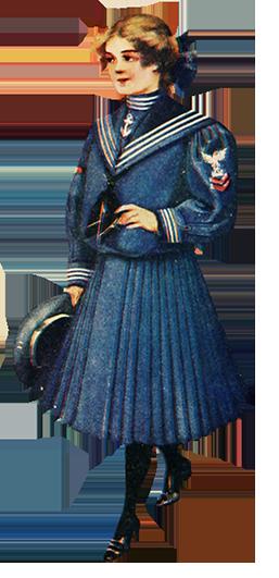 1905 Edwardian fashion girl's dress
