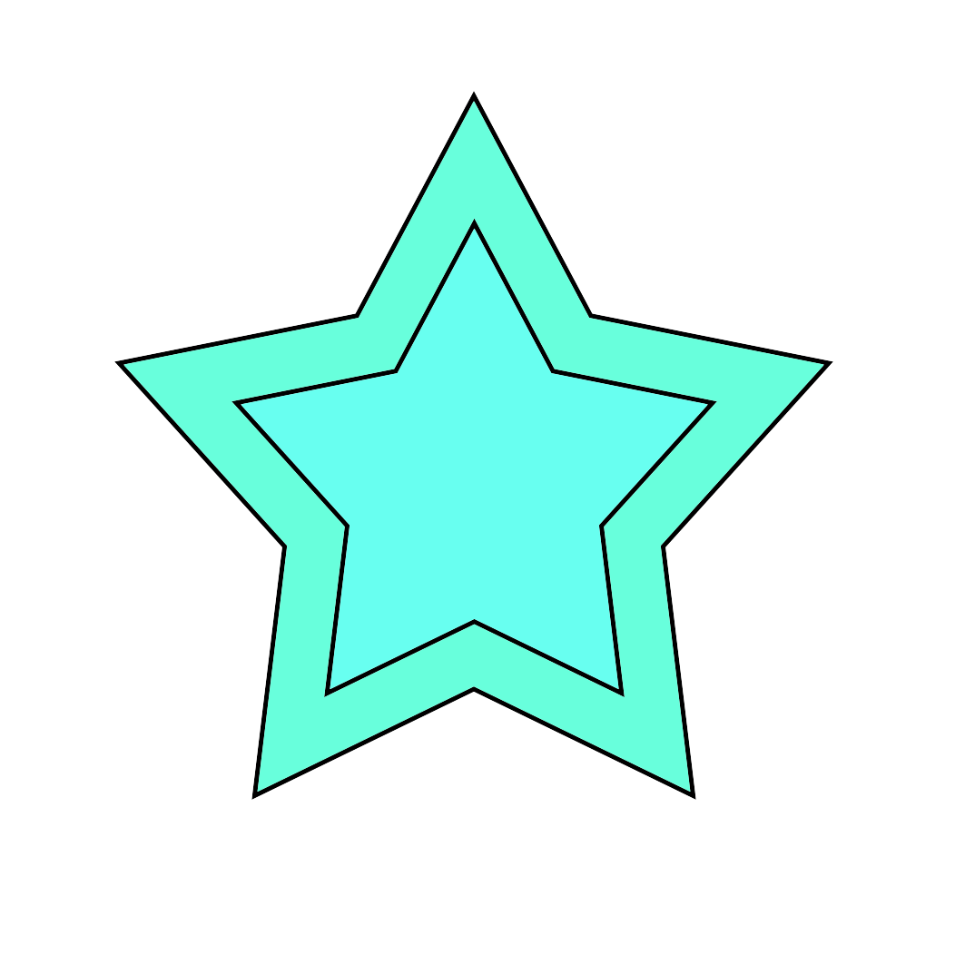 turquoise star graphic