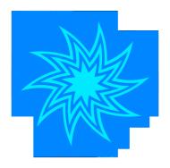 blue star swirl drawing