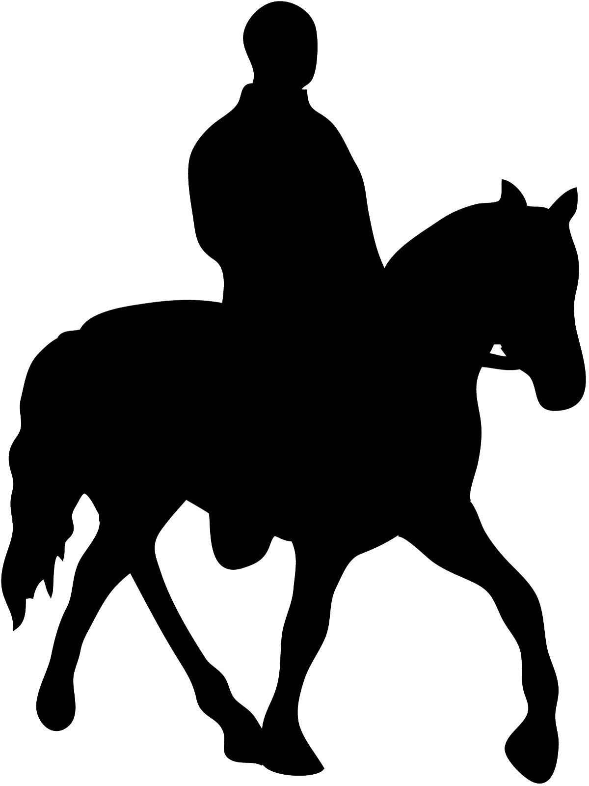 silhouette of horse and horseman