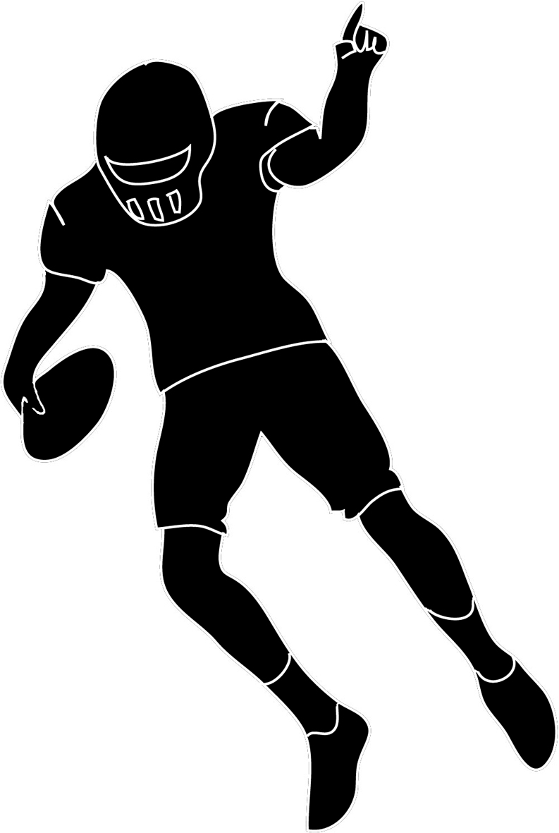 football silhouette american